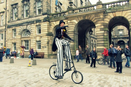 POP2, Pedal on Parliament, edinburgh, cycle, cycling, protest, scotland, 2013, cyclist on stilts, tallbike